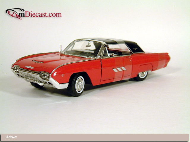 Anson: 1963 Ford Thunderbird Supersport Hardtop - Red (30344) in 1:18 scale