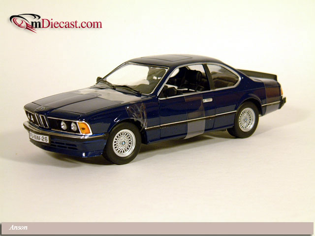 Anson: BMW 635 CSI - Blue (30404) в 1:18 масштабе