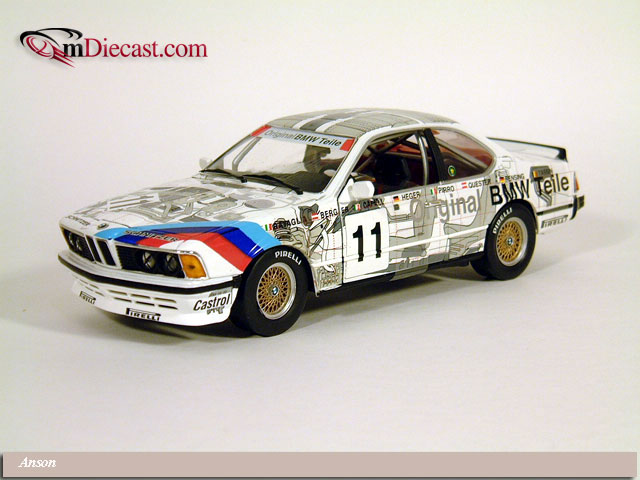 Anson: BMW 635 CSI #11 BMW Parts (30403) in 1:18 scale