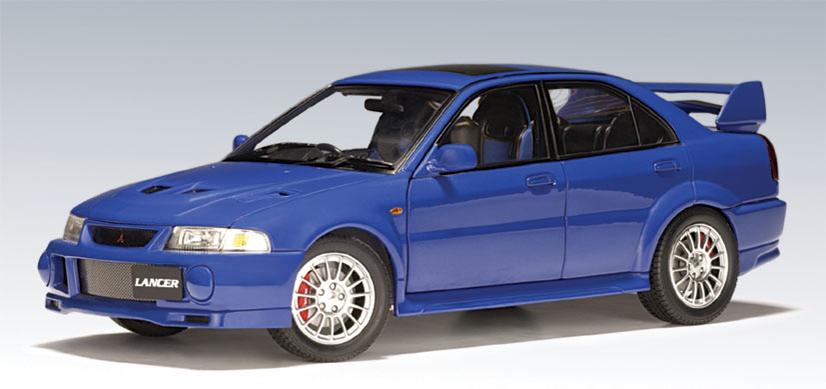 AUTOart: Mitsubishi Lancer EVO VI Street Car (RHD) - Blue (77151) in 1:18 scale - mDiecast