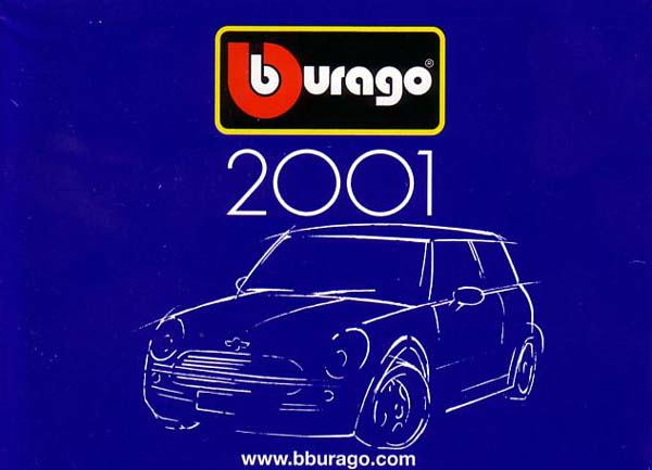 Bburago: Bburago 2001 Catalog in  scale