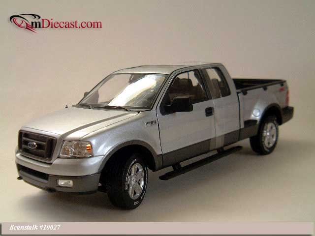 Beanstalk Group: 2004 Ford F150 FX4 Pickup Truck - Silver (10027) in 1:18 scale