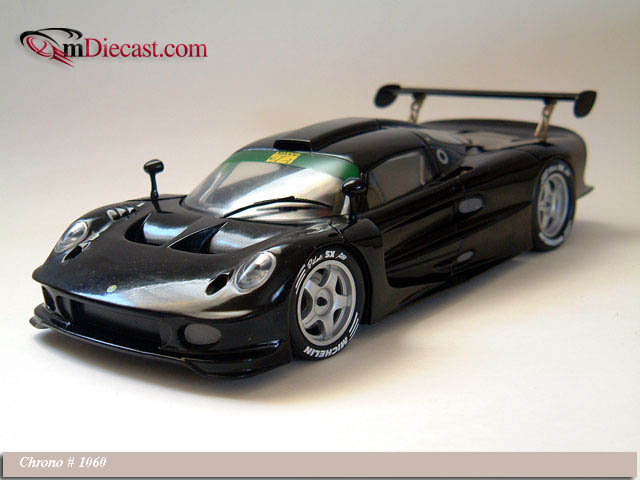Chrono: 1997 Lotus Elise GT1 Black Presentation Car (1060) in 1:18 scale