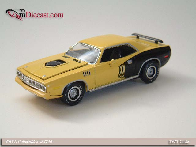 ERTL: 1971 Cuda - Yellow (32246) in 1:43 scale