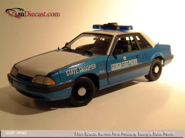 GMP: 1989 Ford Mustang Georgia State Patrol (9061) in 1:18 scale