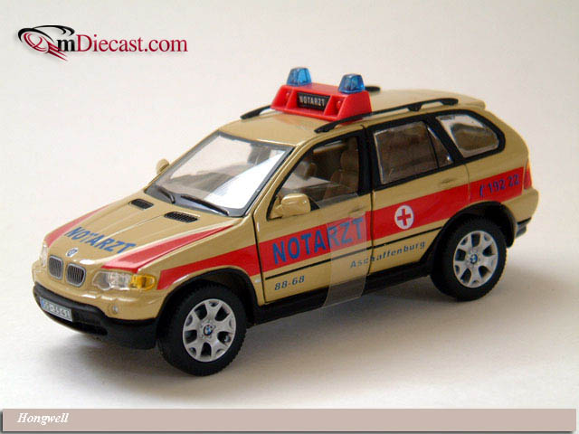 Hongwell: BMW X5 'Notarzt' Ambulance - Beige in 1:43 scale