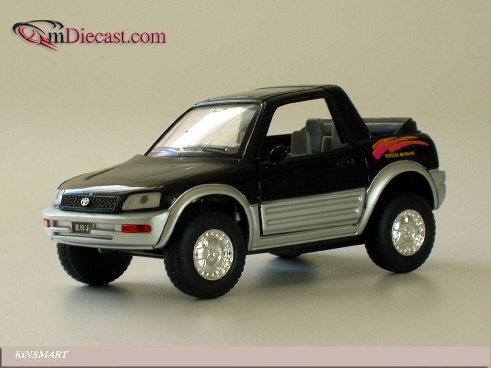 KiNSMART: Toyota RAV4 Cabriolet Black in 1:32 scale - mDiecast