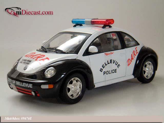 matchbox  volkswagen beetle bellevue police     scale mdiecast