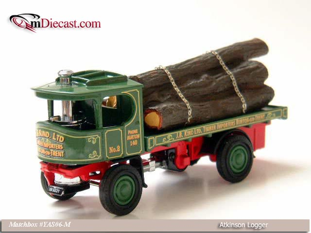 Matchbox: 1918 Atkinson Logger (YAS06-M) in 1:43 scale