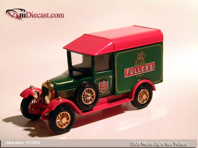 Matchbox: 1929 Morris Light Van `Fullers` (YGB04) в 1:43 масштабе