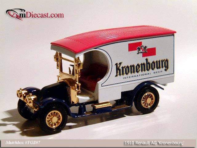 Matchbox: 1910 Renault AG `Kronenbourg` (YGB07-M) in 1:43 scale