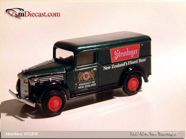 Matchbox: 1937 GMC Van `Steinlager` (YGB08-M) in 1:43 scale