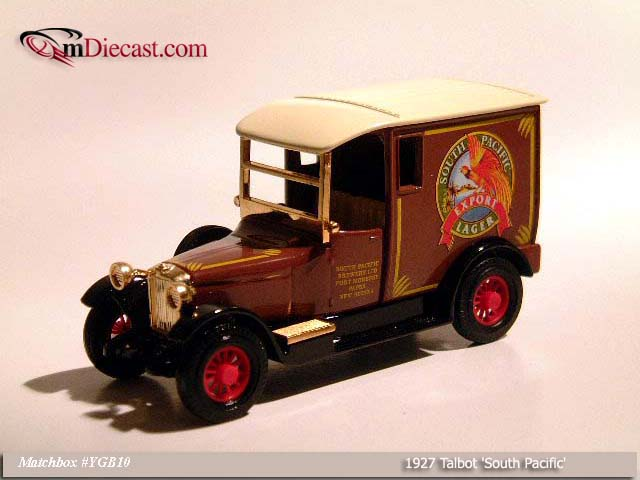 Matchbox: 1927 Talbot `South Pacific` (YGB10-M) in 1:43 scale