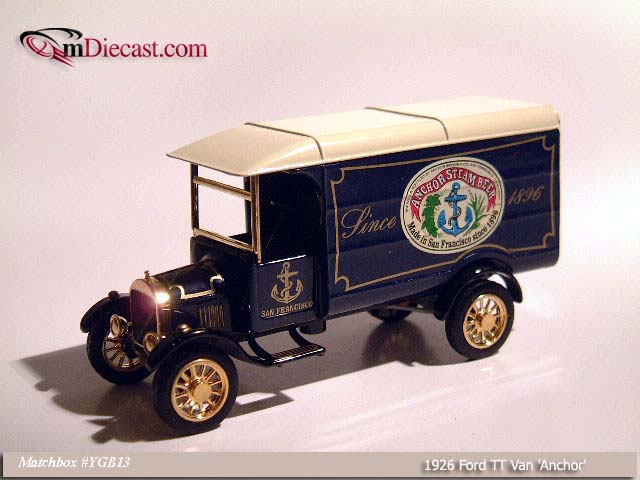 Matchbox: 1926 Ford TT Van `Anchor` (YGB13) в 1:43 масштабе