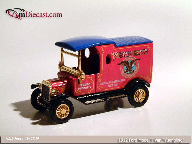 Matchbox: 1912 Ford Model T Van `Yuenling` (YGB19) в 1:43 масштабе
