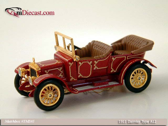 Matchbox: 1911 Daimler Type A12 (YMS05) in 1:43 scale