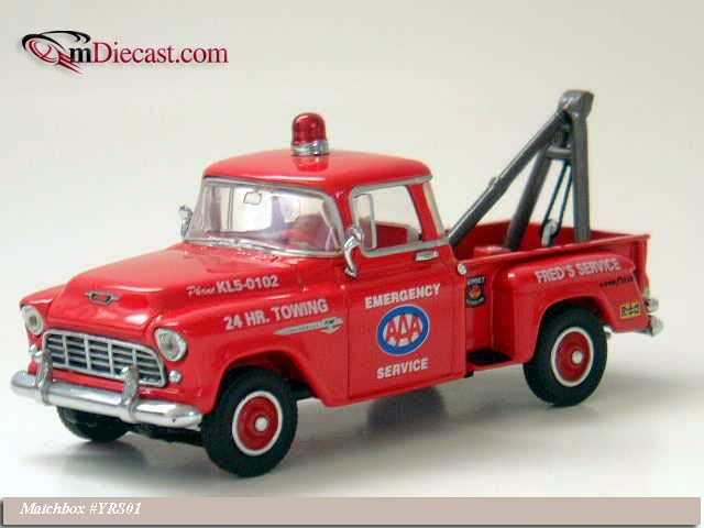 Matchbox: 1955 Chevrolet 3100 AAA Towing (YRS01-M) in 1:43 scale