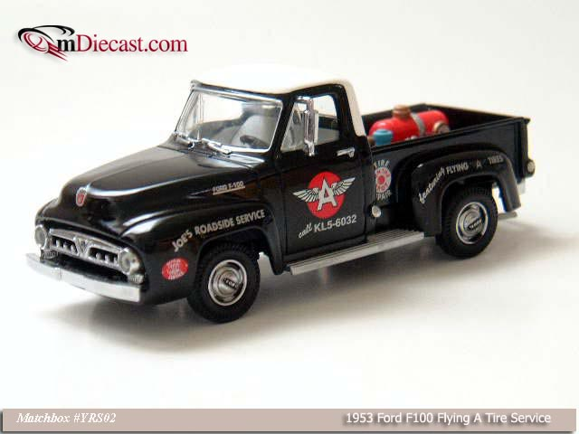Matchbox: 1953 Ford F100 Flying A Tire Service (YRS02-M) in 1:43 scale