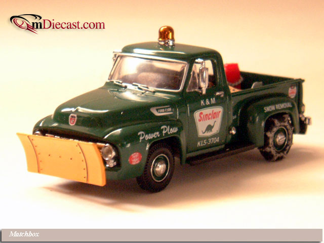 Matchbox: 1954 Ford F100 Sinclair Snow Plow (YRS04-M) in 1:43 scale