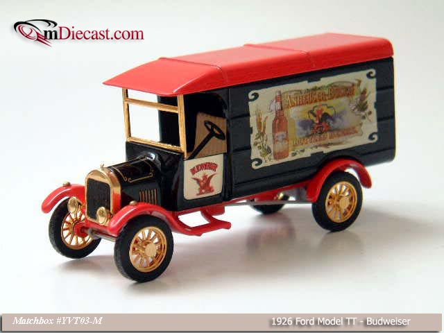 Matchbox: 1926 Ford Model TT Truck - Budweiser (YVT03-M) в 1:43 масштабе