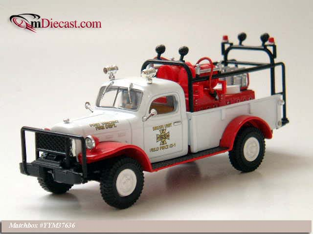 Matchbox: 1946 Dodge Power Wagon Brush/Field Truck (YYM37636) in 1:43 scale