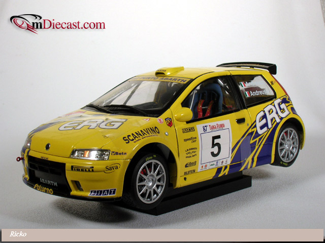 Ricko 2003 Fiat Punto Rally 5 32128 In 118 Scale Mdiecast