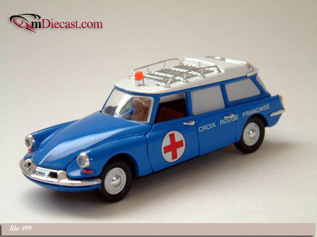 Miniature IXO Car CITROEN ID 19 Break 1958 Scale 1//24e Diecast Metal