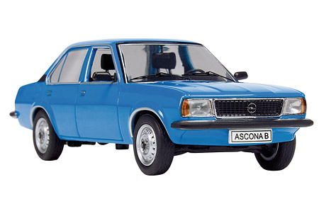 schuco opel ascona b blue 03291 in 1 43 scale mdiecast. Black Bedroom Furniture Sets. Home Design Ideas