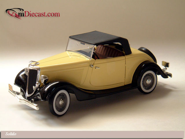 Solido: Ford Roadster V8 Yellow (8008) in 1:19 scale - mDiecast