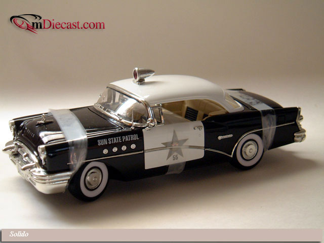 Mira By Solido 1955 Buick Century Coupe Police Black 6118 In 1 18 Scale Mdiecast
