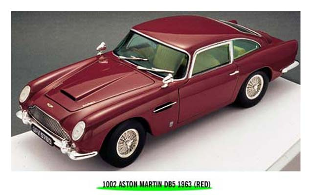 Sun Star: 1963 Aston Martin DB5 - Dark Red (1002) im 1:18 maßstab