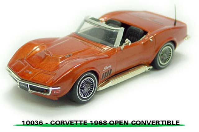 Sun Star: 1968 Chevrolet Corvette Open Convertible - Bronze (10036) в 1:43 масштабе