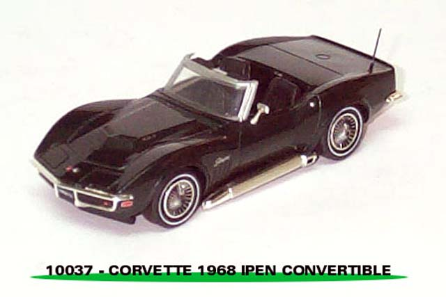 Sun Star: 1968 Chevrolet Corvette Open Convertible - British Green (10037) в 1:43 масштабе