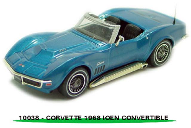 Sun Star: 1968 Chevrolet Corvette Open Convertible - Le Mans Blue (10038) in 1:43 scale