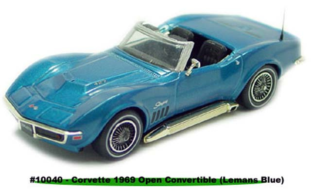 Sun Star: 1969 Chevrolet Corvette Open Convertible - Le Mans Blue (10040) в 1:43 масштабе