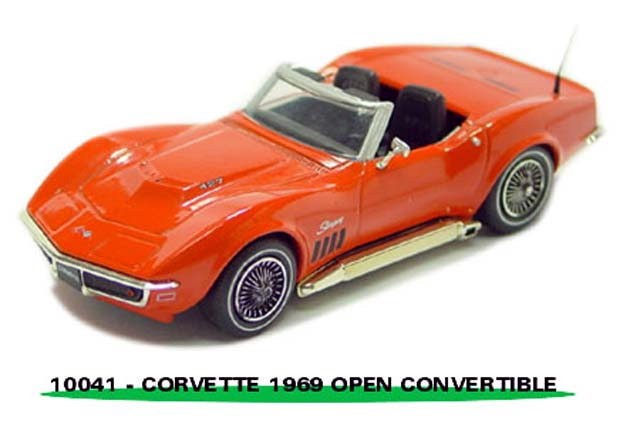 Sun Star: 1969 Chevrolet Corvette Open Convertible - Huggar Orange (10041) in 1:43 scale