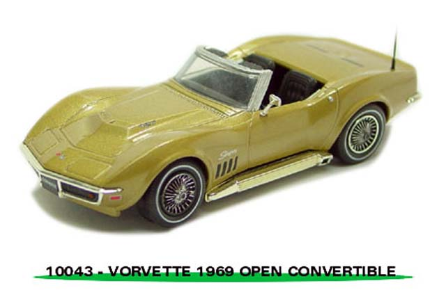 Sun Star: 1969 Chevrolet Corvette Open Convertible - Gold (10043) в 1:43 масштабе