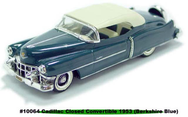 Sun Star: 1953 Cadillac Closed Convertible - Berkshire Blue (10064) in 1:43 scale