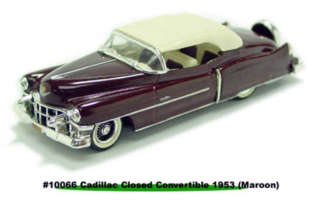Sun Star: 1953 Cadillac Closed Convertible - Maroon (10066) в 1:43 масштабе