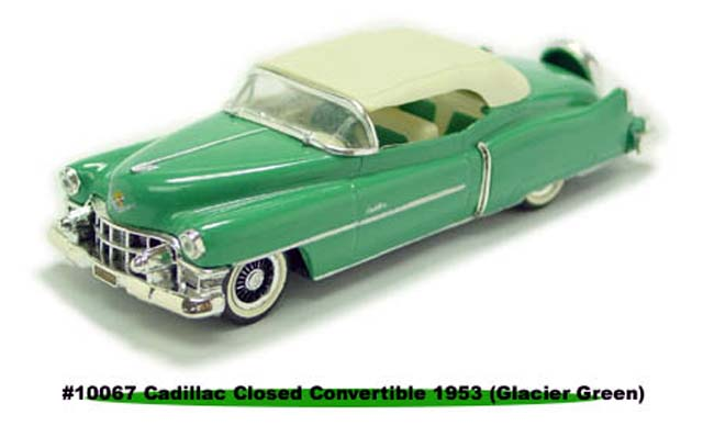 Sun Star: 1953 Cadillac Closed Convertible - Gracier Green (10067) в 1:43 масштабе