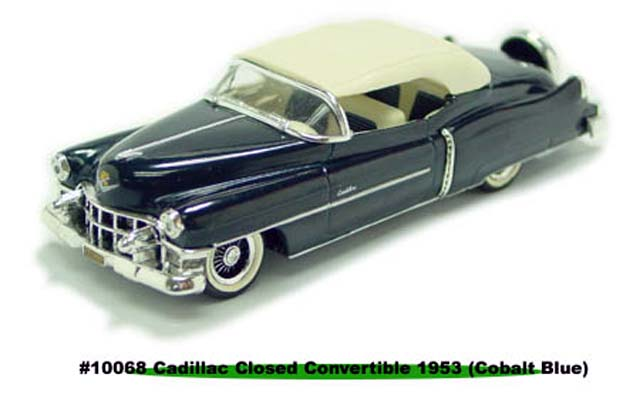 Sun Star: 1953 Cadillac Closed Convertible - Cobalt Blue (10068) in 1:43 scale