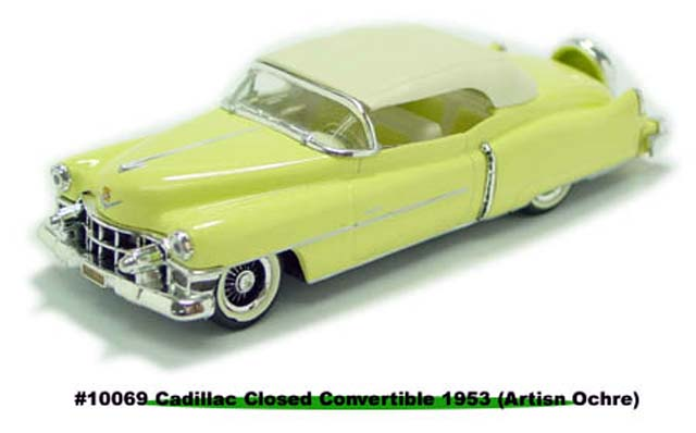 Sun Star: 1953 Cadillac Closed Convertible Artisan Ochre (10069) в 1:43 масштабе