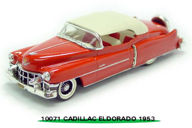 Sun Star: 1953 Cadillac Closed Convertible - Red (10071) в 1:43 масштабе