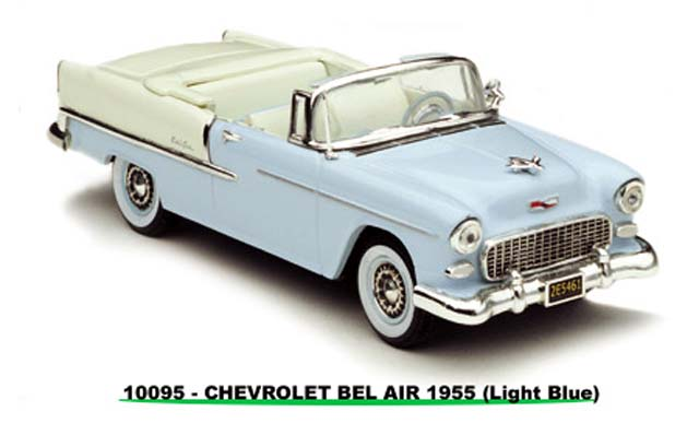 Sun Star: 1954 Chevrolet Bel Air Open Convertible - Light Blue (10095) in 1:43 scale
