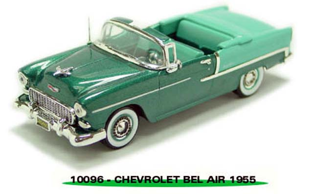 Sun Star: 1954 Chevrolet Bel Air Open Convertible - Green (10096) в 1:43 масштабе