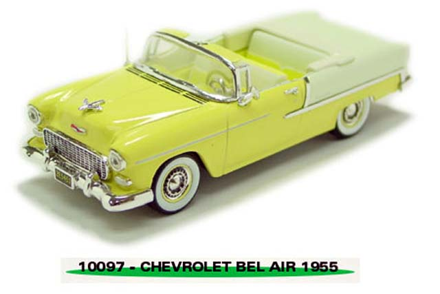 Sun Star: 1954 Chevrolet Bel Air Open Convertible - Yellow (10097) in 1:43 scale