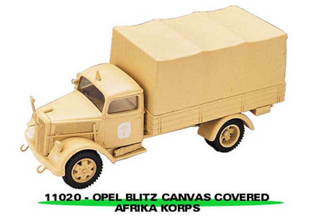 Sun Star: Opel Blitz Canvas Covered Africa Korps (11020) in 1:43 scale