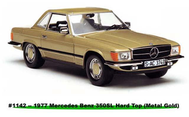 Sun star 1977 mercedes benz 350 sl hard top coupe metal for Sun motor cars mercedes benz