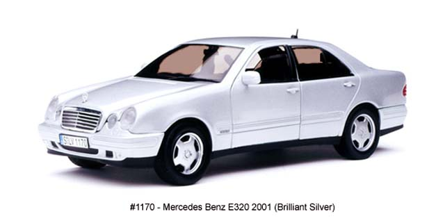 Sun Star: 2001 Mercedes-Benz E320 - Brilliant Silver (1170) in 1:18 scale