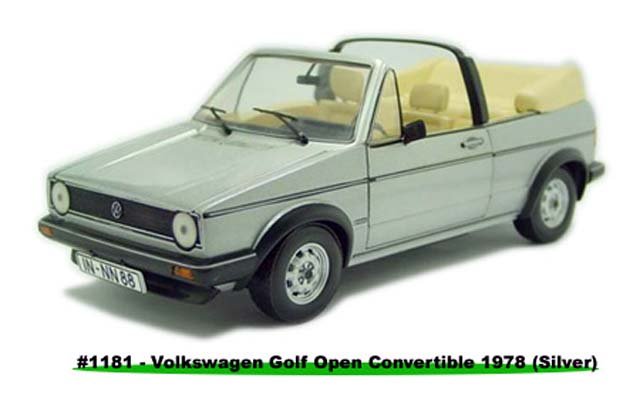 Sun Star: 1978 Volkswagen Gold Open Convertible - Silver Metalic (1181) в 1:18 масштабе